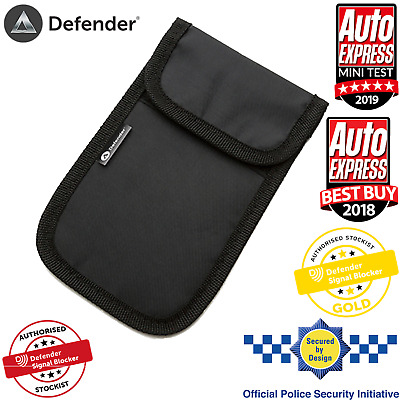 Genuine Defender Signal Blocker Best Car key Signal Jamming Pouch UK Stock BLACK
