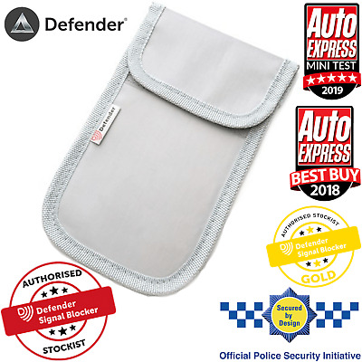 Genuine Defender Signal Blocker Car key Fob Signal Jamming pouch UK Stock Grey