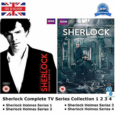 Sherlock Holmes Series 1-4 TV Sherlock Complete Collection 1 2 3 4 Extra New DVD