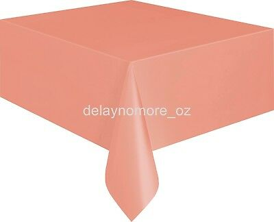 Wedding Birthday Party Rose Gold Tablecover Table Cover Cloth Plastic Tablecloth