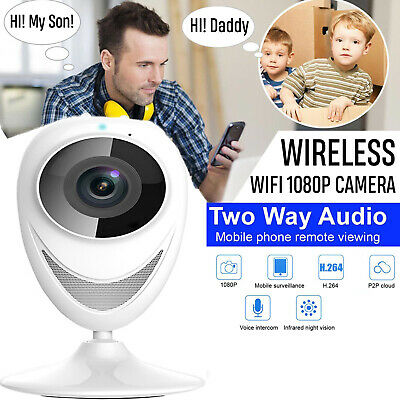 180° HD IP CCTV Camera indoor Security IR Night Vision Monitor Wireless 720P UK