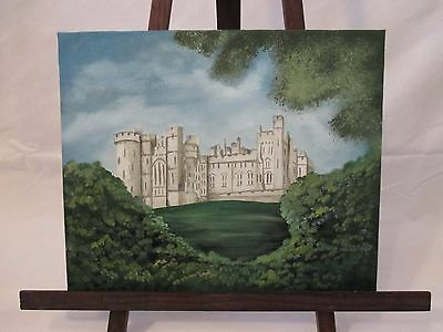 Original Acrylic and oil painting of Arundel Castle by Alison Dwyer