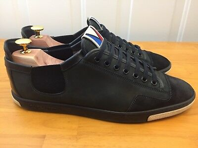 LOUIS VUITTON BLACK Suede Slalom Cup Sneakers Shoes Men s US 9 RARE ... b27be8d57ff