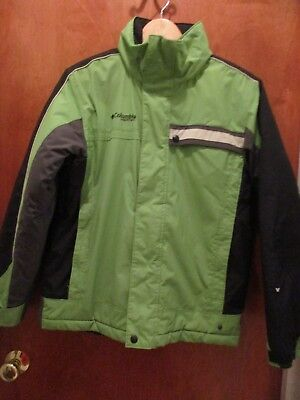 55c955ef2 COLUMBIA INSULATED WINTER Jacket Boys Size 14 16 Brown Green ...