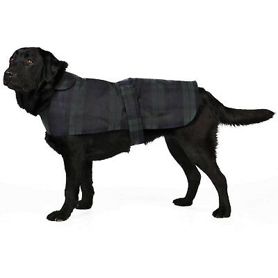 New Blackwatch Checkered British Wax Dog Coat Waterproof Waxed Cotton Raincoat