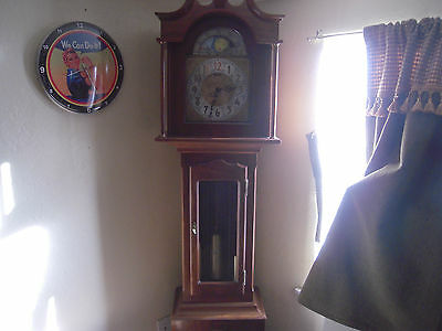 "THE  ""PRESIDENT"" an Original by Daneker Moon-phase Grandfather Clock  79"" Tall"