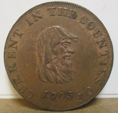 1795 - DH 443a - Conder Token - Anglesey, Wales, Halfpenny - Druid - Cypher