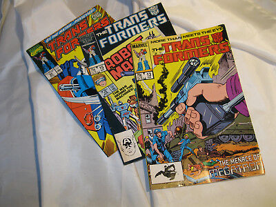 Marvel Transformers Issues 13 15 & 66 Vol 1 1986  Excellent