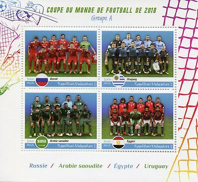 Madagascar 2018 MNH World Cup Football Russia 2018 Uruguay 4v M/S Soccer Stamps