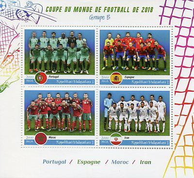 Madagascar 2018 MNH World Cup Football Russia Portugal Spain 4v MS Soccer Stamps