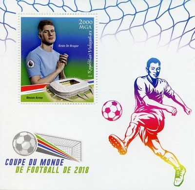 Madagascar 2018 MNH World Cup Football Russia Kevin de Bruyne 1v S/S Stamps