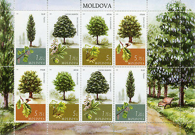 Moldova 2018 MNH Trees Tree 8v M/S Nature Plants Stamps