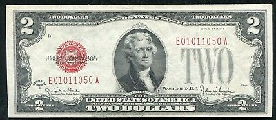 Fr 1508 1928-G $2 Two Dollars Red Seal Legal Tender United States Note Gem Unc