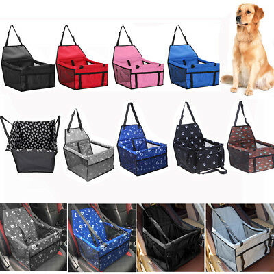 Pet Dog Cat Puppy Travel Car Seat Carrier Belt Booster Folding Bag Kennel Mat