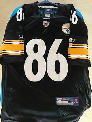 1988ef47f19 PITTSBURGH STEELERS HINES Ward Authentic Reebok Jersey Size 48 ...
