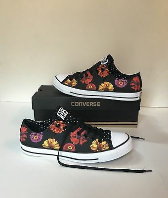 44c8737e9ef1 CONVERSE CHUCK TAYLOR All-Star Daisy Print Low Top Sneakers Size 12 Womens  10Men -  35.99