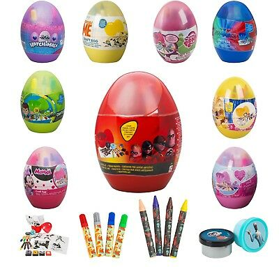 Kids Craft Egg Stamps,Finger Paint Pots,Stamp,Crayons Drawing,Painting Craft Set