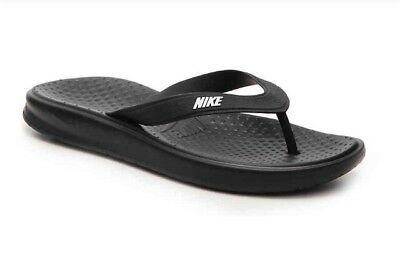 d5b1a47a5728 MEN NIKE SOLAY Flip Flop Sandals Black 882690-005 -  29.49