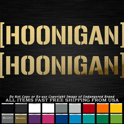 JDM Hoonigan 2 stickers  Car Jeep Truck  Sticker Decal