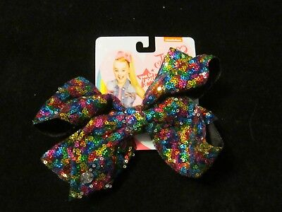RARE Jojo Siwa Signature Large rainbow sequence  Bow - GREAT EASTER BASKETS