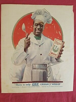 """Vintage 1923 CREAM of WHEAT Print Magazine Ad Edw V Brewer """"There is only ONE.."""""""