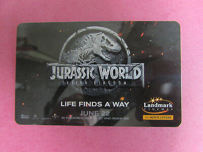 Jurassic World Landmark Cinema Canada Gift Card No Value