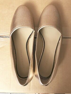 06ac8b0fcbc0 H BY HALSTON Grey Pieced Leather Elisa Slip on Shoes Flats NEW ...