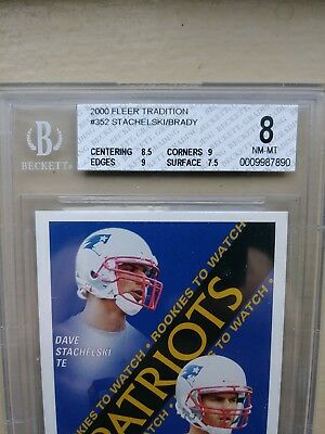 2000 Fleer Tradition 352 Tom Brady Rookie Card Bgs 8 Nm Mt