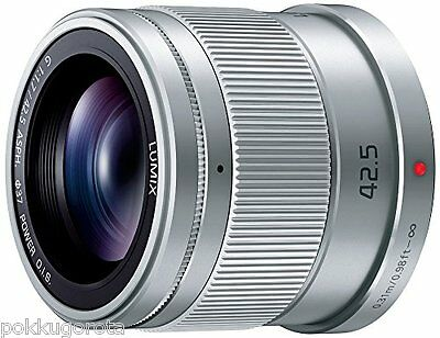 Panasonic LUMIX G 42.5mm F1.7 ASPH POWER OIS H-HS043 Lens Silver Japan Model