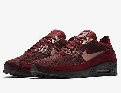 2740185ca211ee Mens Nike Air Max 90 Ultra 2.0 Flyknit Shoes Team Red Rust Pink 875943 601