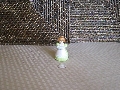 """Decorative bell woman holding baby figurine colorful design 3"""" tall"""