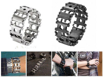 2018NEW Multi Function Hiking Camping Survival Tools Bracelets Stainless Steel