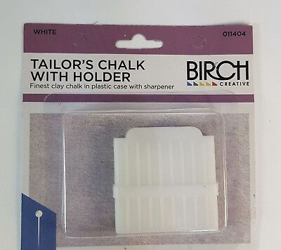 Birch -  Tailors Chalk With Holder And Built In Sharpener