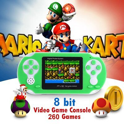 "Portable 2.5"" Handheld Video Game Console 8bit PVE Built-in 260 Free Retro Games"