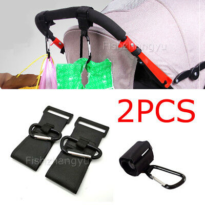 2PCS PRAM HOOK Baby Stroller Hooks Shopping Bag Clip Heavy duty Hanger Hooks