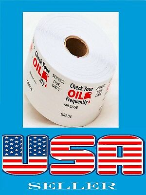 500 Oil Change Stickers Roll Reminder Sticker Non Branded