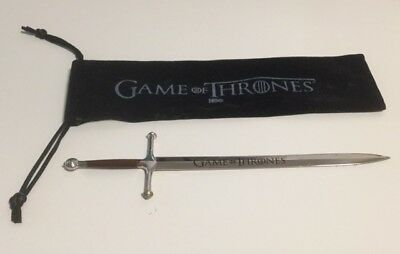 Official HBO Game Of Thrones Sword Letter Opener - 19.5cm with pouch