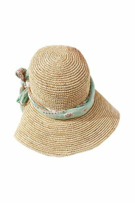 Ladies Korea hot wind Cap along the shade of green streamers big straw hat M9J4
