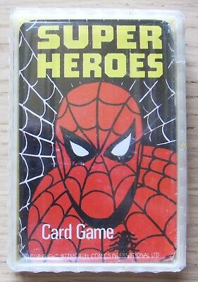 CARD GAME SUPER HEROES MARVEL, 1977 Carte Blisterate in Custodia Plastica* NUOVE