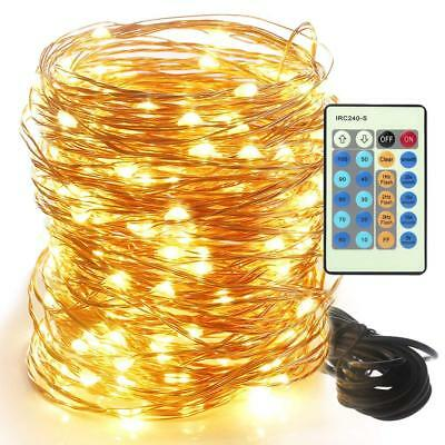 LED Flexible Copper Wire String Lights - Solarice 66ft 200LEDs Outdoor/indoor ,