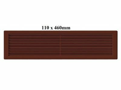 Air Vent Grille Brown Plastic Wall Ducting Ventilation Cover Sizes (110 x 460mm)