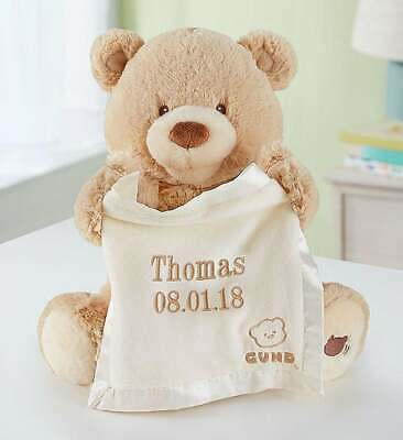 Personalized Gund® Peek A Boo Teddy Bear-Customized Animated Baby Gift Present!