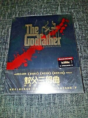 The Godfather Trilogy Blu-Ray Coppola Restoration GoldSlip Blufans Steelbook New