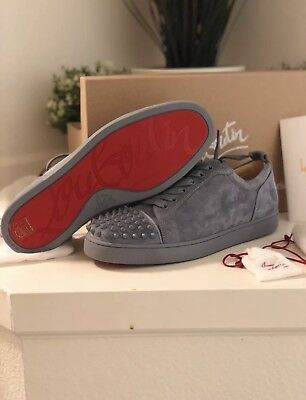 "brand new 5ee63 9f3df CHRISTIAN LOUBOUTIN JUNIOR Spikes ""Red Bottoms"" Grey Brand New Deadstock"
