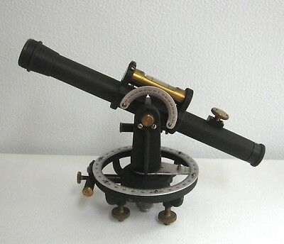 Antique Telescope with Levels in Wooden Box Maritime Vintage OLD
