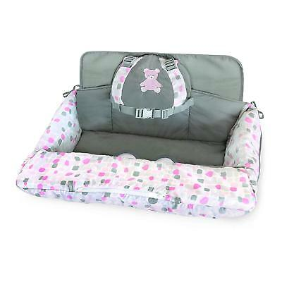 Carter's 2-in-1 Shopping Cart and High Chair Cover Bear, Pink/White