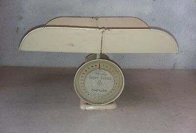 John Chatillon & Sons Scale Fold-a-Way Baby Scale Antique 30 lbs