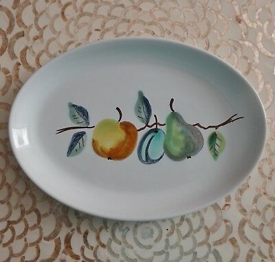 Vintage Gouda Holland Pottery Plate Tray Royal Courts Geodewaagen Hand-Painted