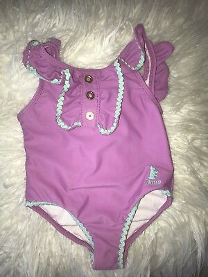 Juicy Couture Girls Swimsuit Purple 12-18 Months