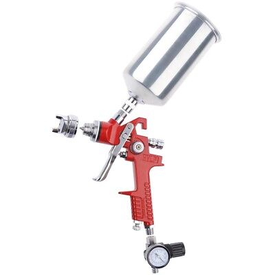 HVLP 1.4 Spray Gun Gravity Feed w/ Air Regulator Auto Paint Primer Nozzle